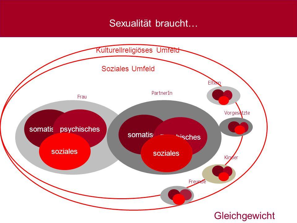 somatisches somatisch Soziales Umfeld Frau PartnerIn Eltern Vorgesetzte Kinder Freunde Kulturellreligiöses Umfeld Sexualität braucht… psychisches Psyc