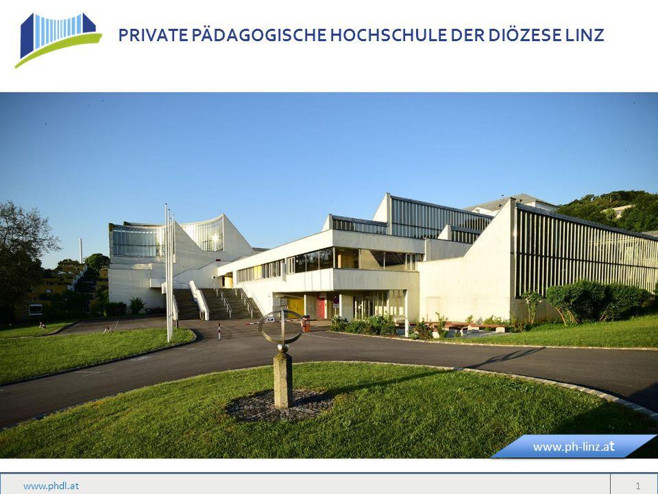 PRIVATE PÄDAGOGISCHE HOCHSCHULE DER DIÖZESE LINZ Studienrichtungen Lehramt für Primarstufe (ab 1.10.2015) Lehramt für Neue Mittelschulen Lehramt für Religion an Pflichtschulen