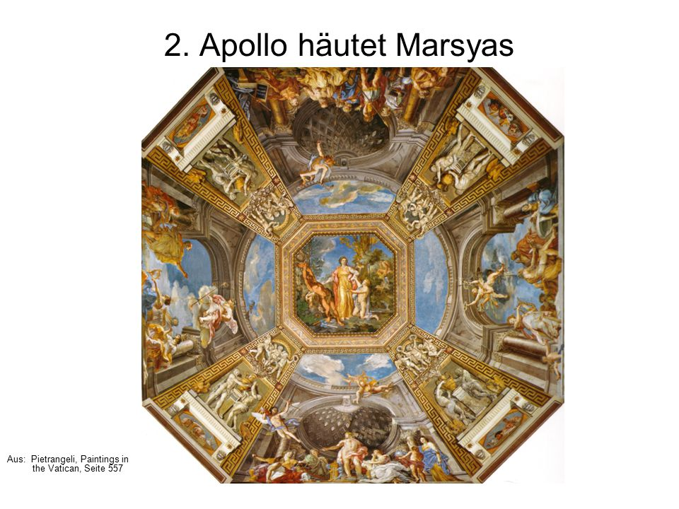 2. Apollo häutet Marsyas Aus: Pietrangeli, Paintings in the Vatican, Seite 557
