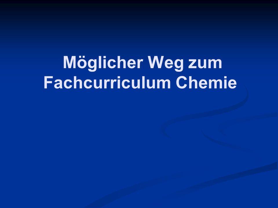 Möglicher Weg zum Fachcurriculum Chemie