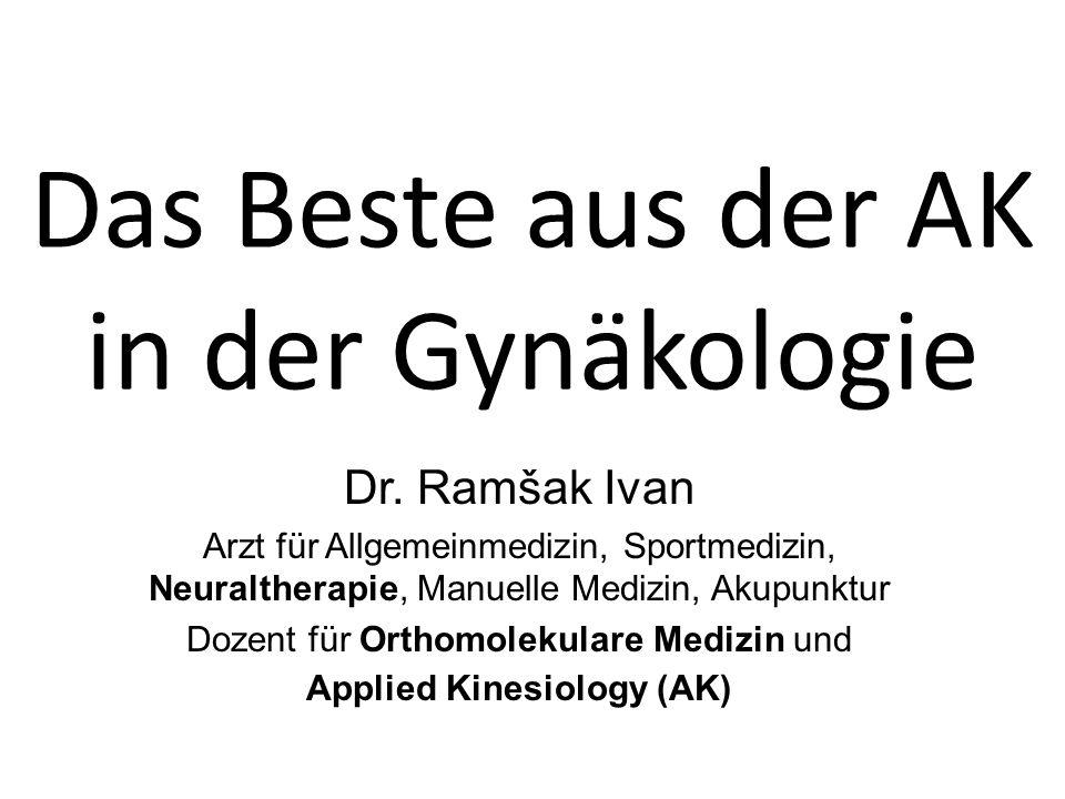 APPLIED KINESIOLOGY EINFÜHRUNG Therapielokalisation (TL) zur Untersuchung von Subluxationen der Wirbelsäule Narben Akupunkturpunkten Zähnen Reflexzonen NL, NV Organalarmpunkte....