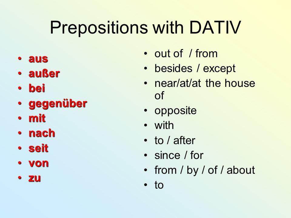 PREPOSITIONS PREP.+ ACCUSATIVE BIS DURCH FÜR GEGEN OHNE UM ===> KAPITEL 5 PREP.