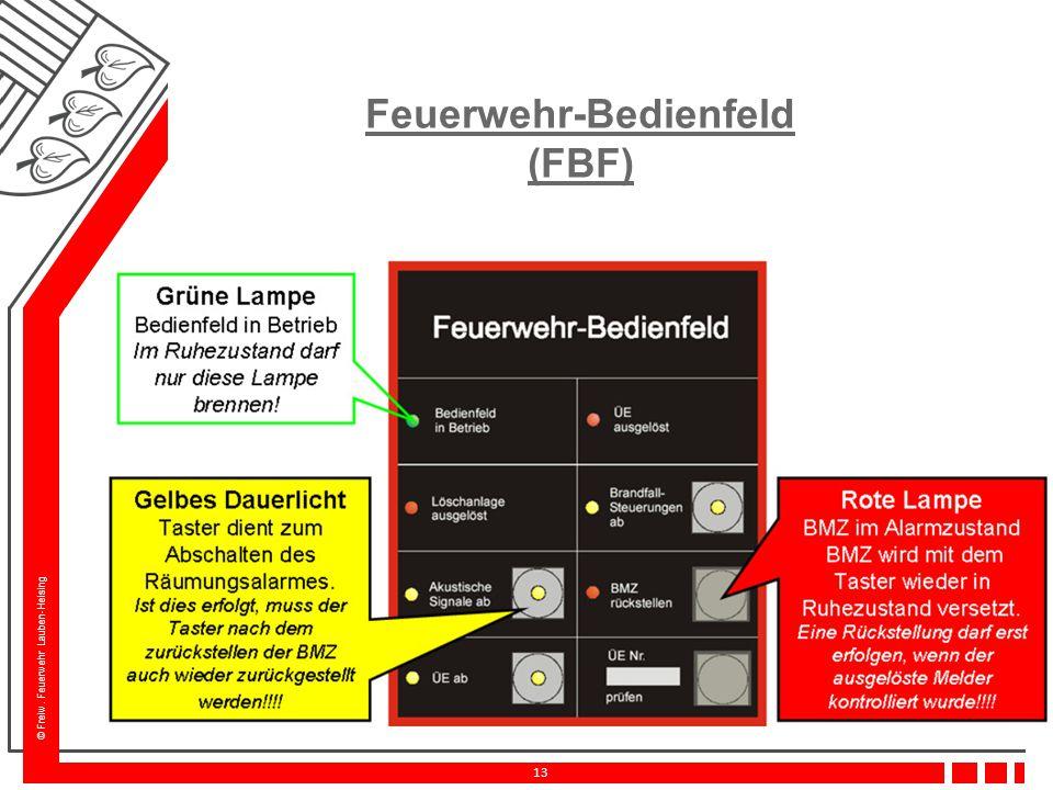 © Freiw. Feuerwehr Lauben-Heising 13 Feuerwehr-Bedienfeld (FBF)