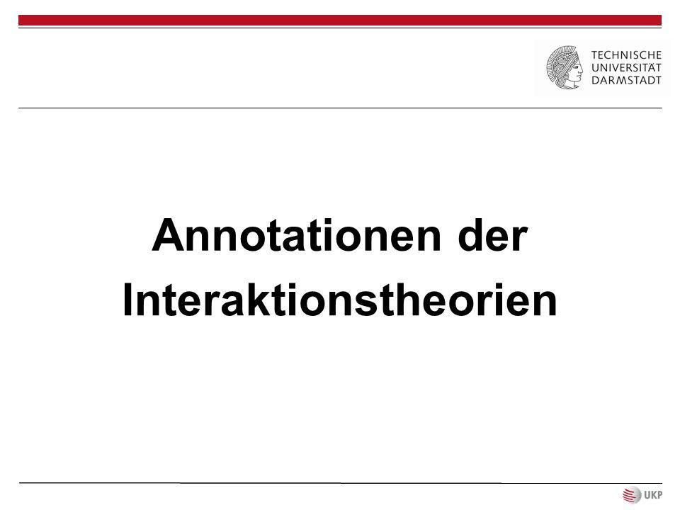 Annotationen der Interaktionstheorien