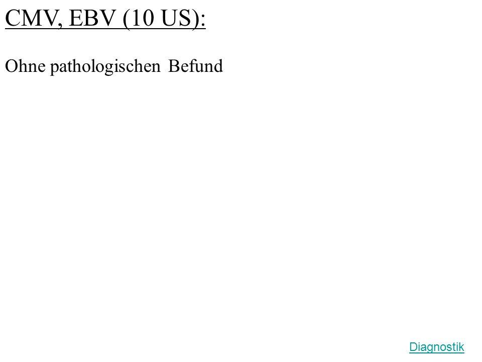 CMV, EBV (10 US): Ohne pathologischen Befund Diagnostik