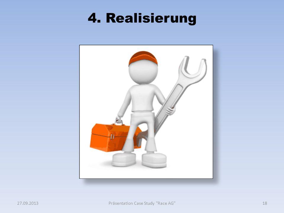 4. Realisierung 1827.09.2013Präsentation Case Study