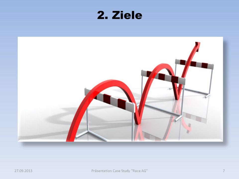 2. Ziele 727.09.2013Präsentation Case Study
