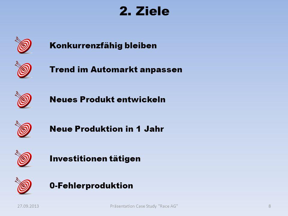 2. Ziele 827.09.2013Präsentation Case Study
