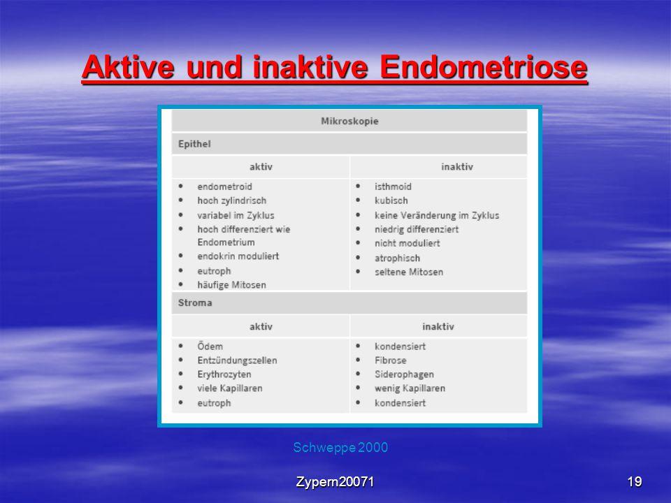 Zypern2007119 Aktive und inaktive Endometriose Schweppe 2000
