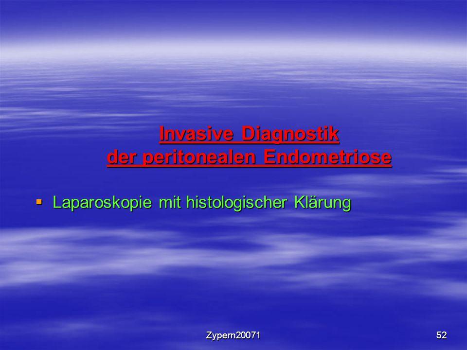 Zypern2007152 Invasive Diagnostik der peritonealen Endometriose  Laparoskopie mit histologischer Klärung