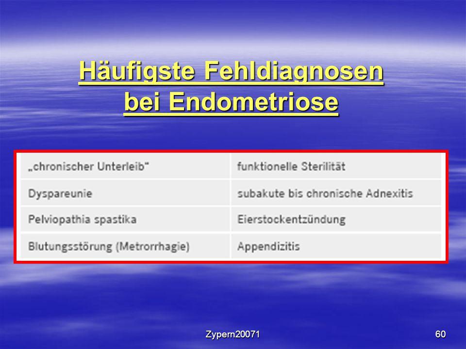 Zypern2007160 Häufigste Fehldiagnosen bei Endometriose