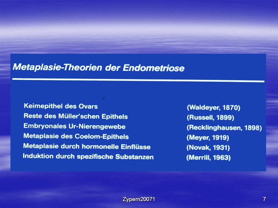 Zypern2007158 Symptomatik der Adenomyosis uteri 1.Dysmenorrhoe 2.Menorrhagie 3.Sterilität