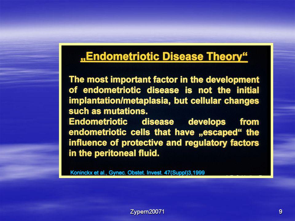 10 Genetische Komponente der Endometriose  Verwandte ersten Grades haben eine höhere Wahrscheinlichkeit Endometriose zu entwickeln.
