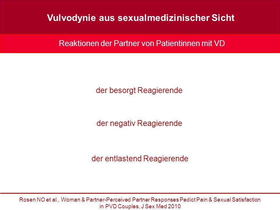 Vulvodynie aus sexualmedizinischer Sicht der besorgt Reagierende der entlastend Reagierende der negativ Reagierende Reaktionen der Partner von Patient