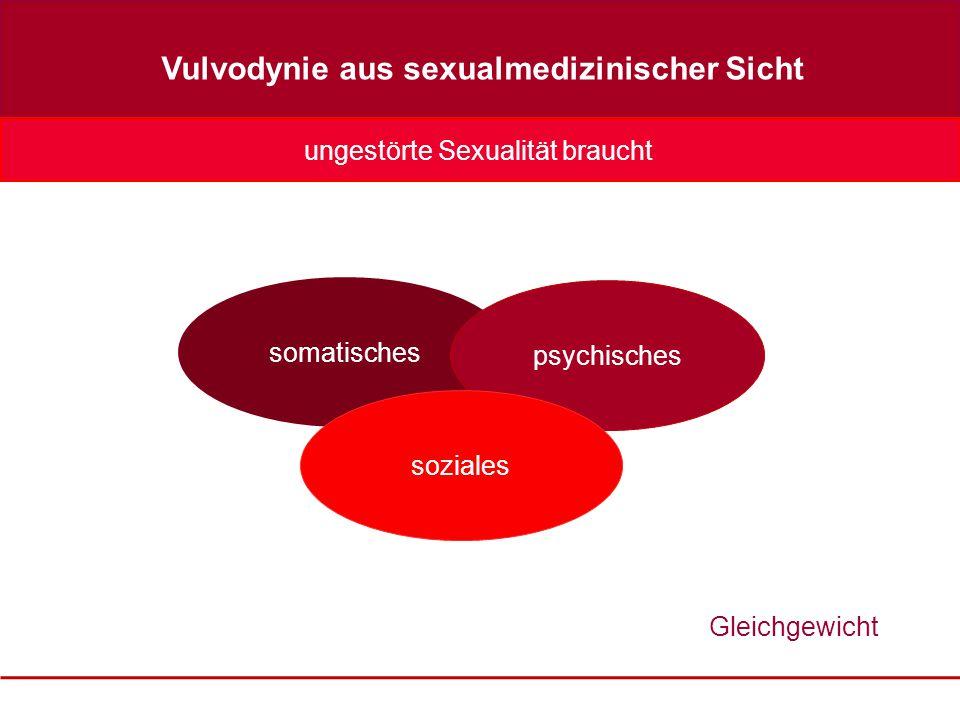 somatisches psychisches soziales Gleichgewicht Vulvodynie aus sexualmedizinischer Sicht ungestörte Sexualität braucht