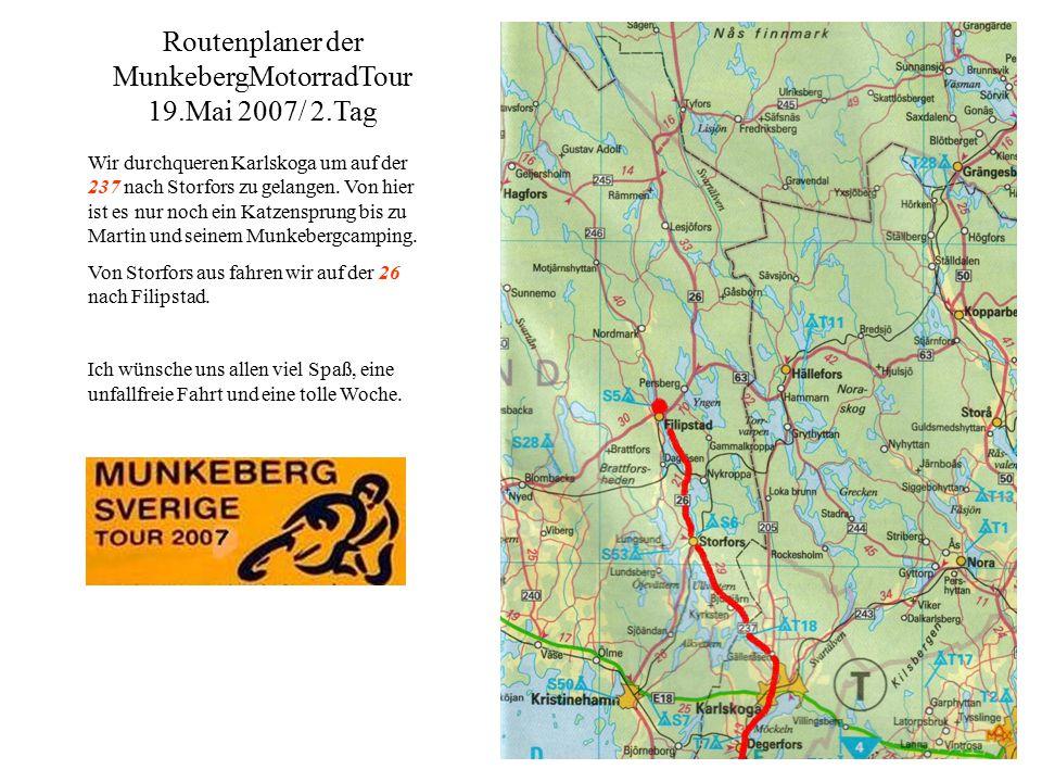 Wir durchqueren Karlskoga um auf der 237 nach Storfors zu gelangen.
