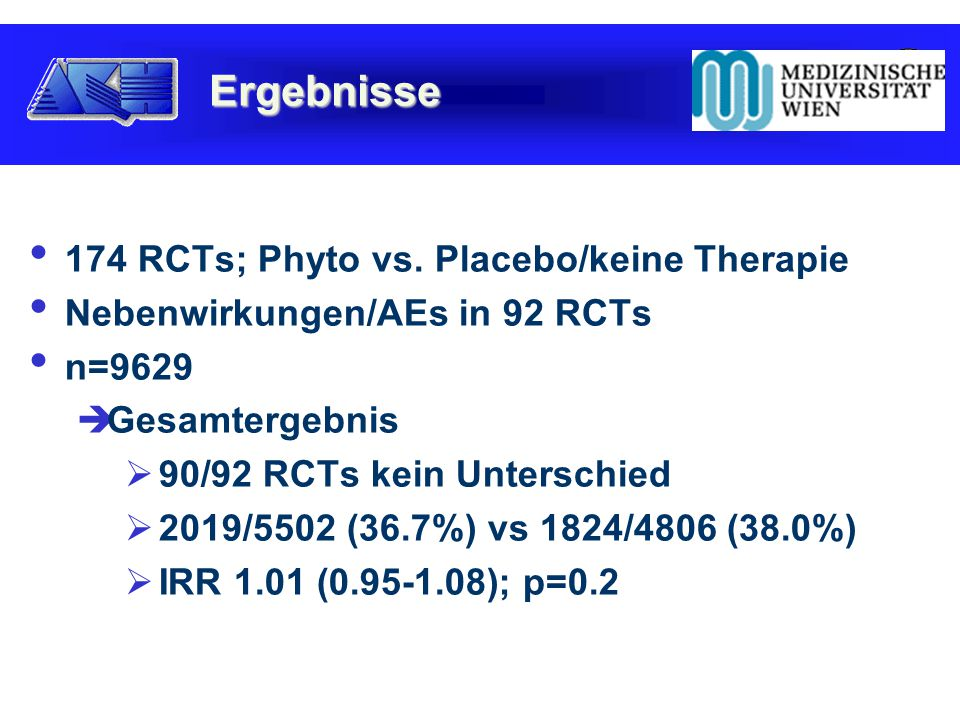 174 RCTs; Phyto vs.