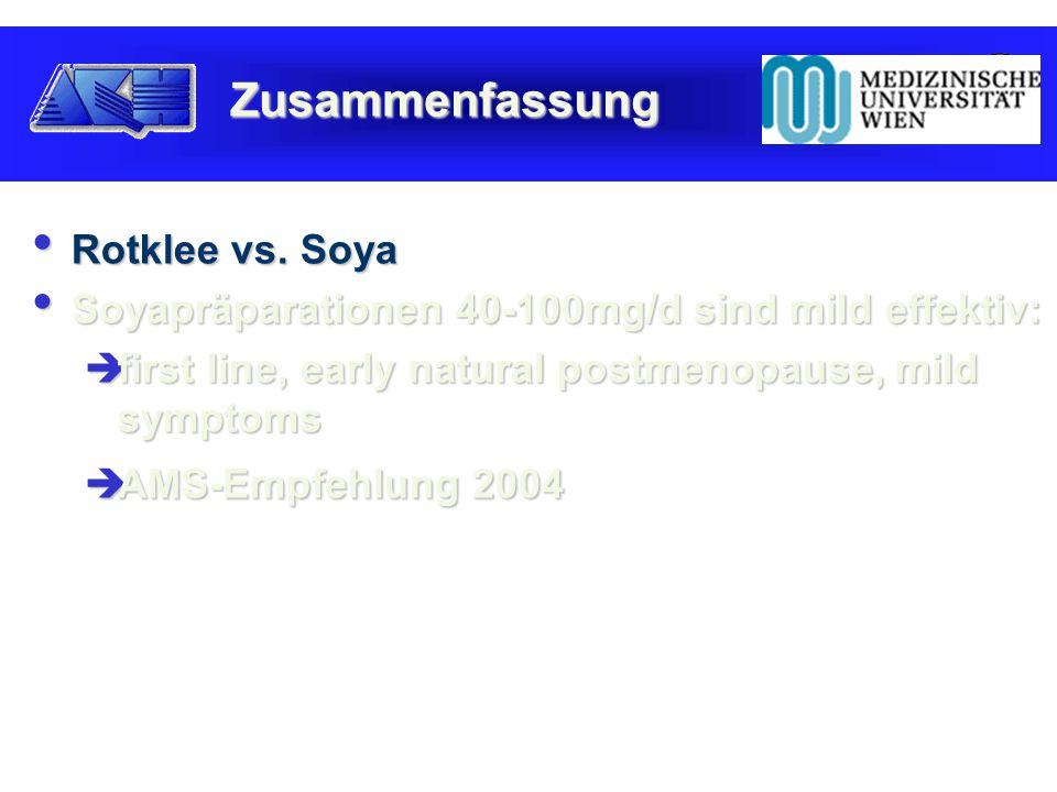 Rotklee vs. Soya Rotklee vs.