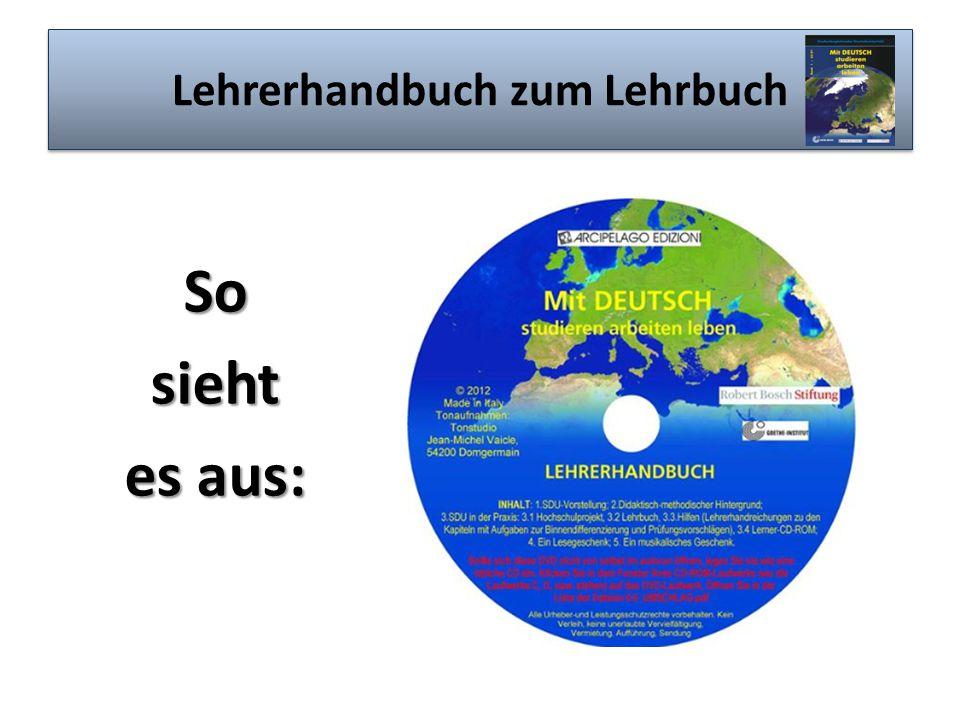 Lehrerhandbuch zum Lehrbuch Sosieht es aus: