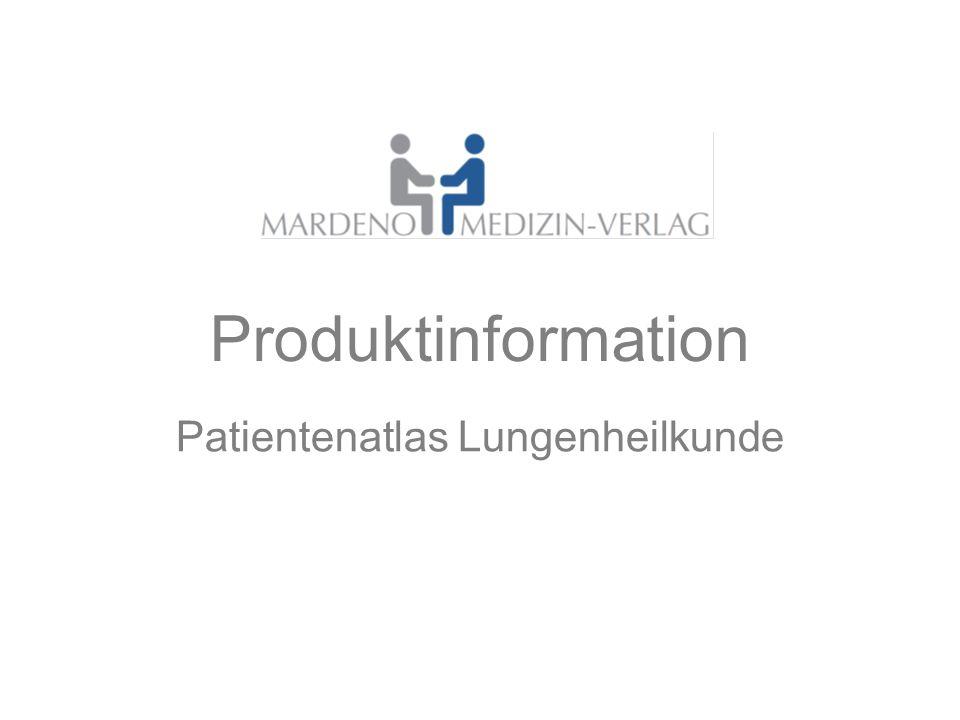 Produktinformation Patientenatlas Lungenheilkunde