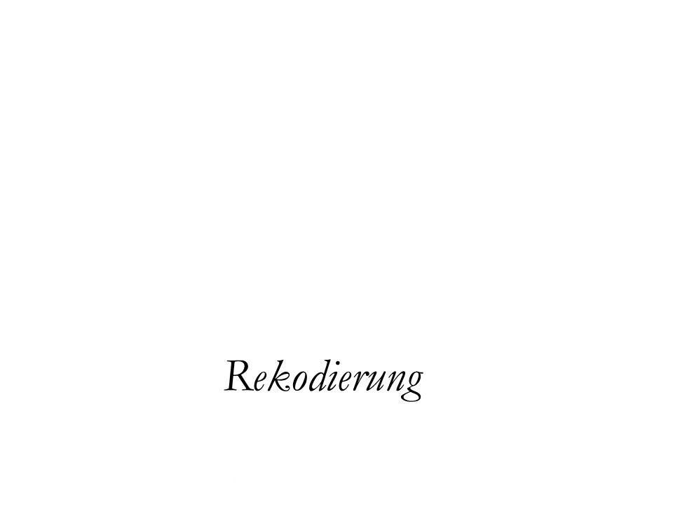 Rekodierung