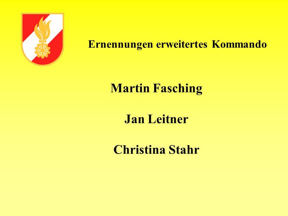 Ernennungen erweitertes Kommando Martin Fasching Jan Leitner Christina Stahr