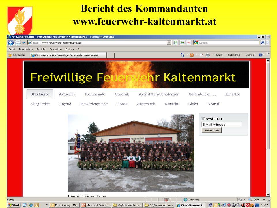 Bericht des Kommandanten www.feuerwehr-kaltenmarkt.at