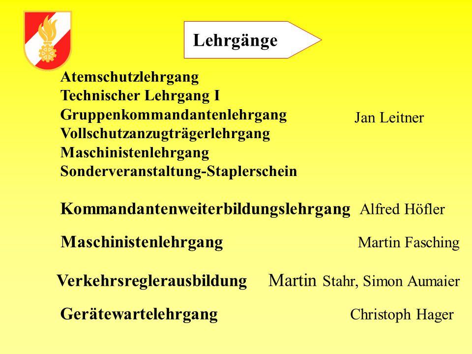 Ehrungen 50 Jahre Mitgliedschaft OLM Anton Fasching OFM Josef Reitinger HBM Rudolf Alteneder Ehrenoberbrandinspektor Rudolf Alteneder