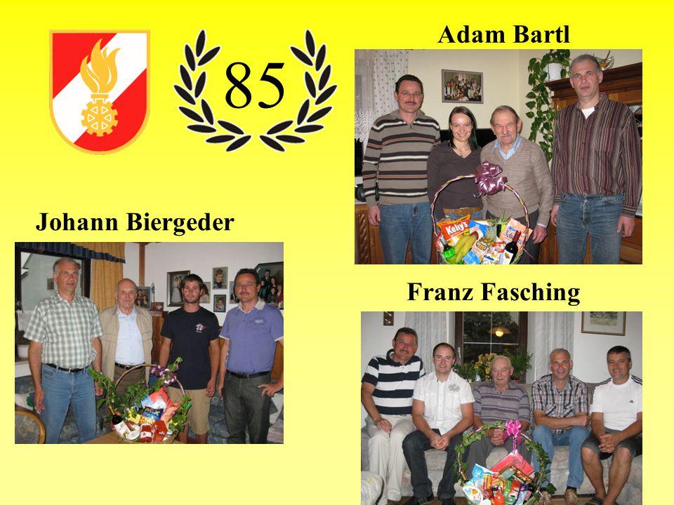 Adam Bartl Johann Biergeder Franz Fasching 85
