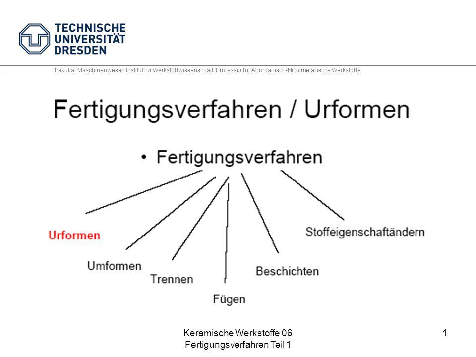 Keramische Werkstoffe 06 Fertigungsverfahren Teil 1 12 Volumetrische Energiedichte [Wh/l] hängt stark von der Packungsdichte des verwendeten Kathodenmaterials ab