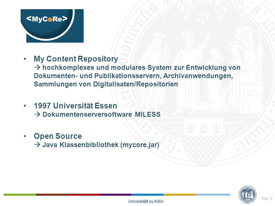 Opus My Content Repository  hochkomplexes und modulares System zur Entwicklung von Dokumenten- und Publikationsservern, Archivanwendungen, Sammlungen
