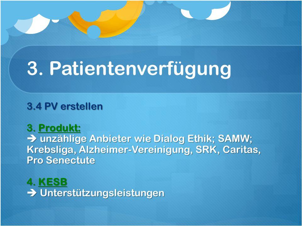 3. Patientenverfügung 3.4 PV erstellen 3.
