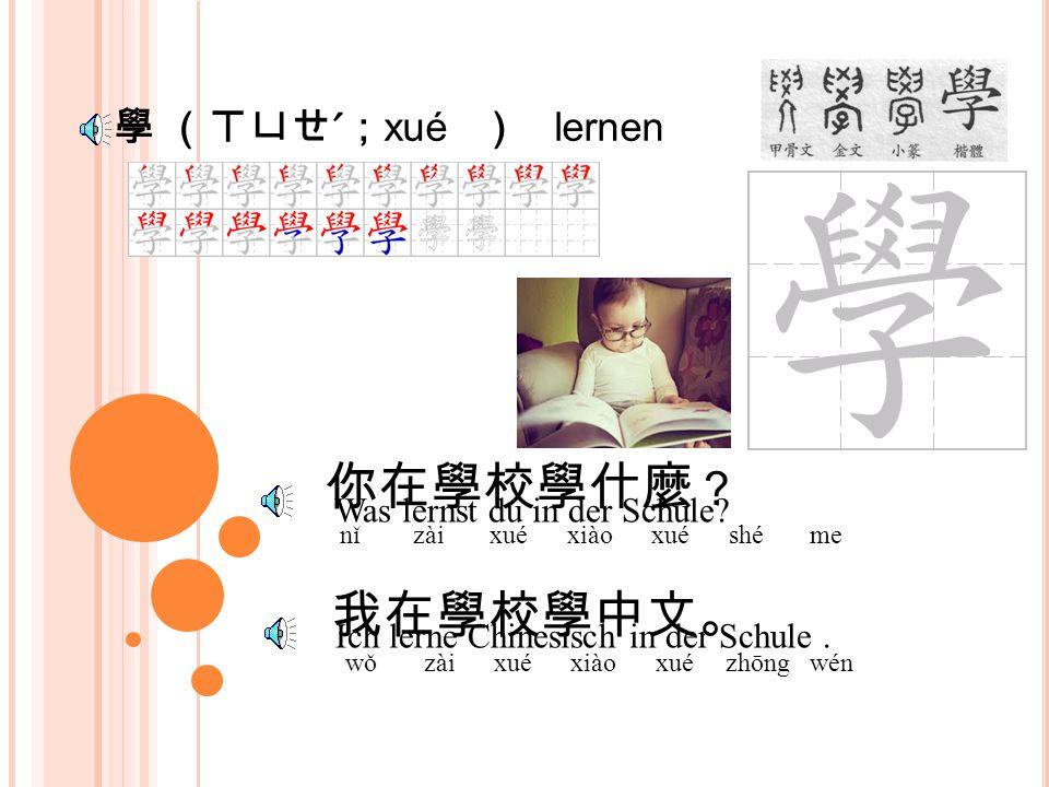裡 (ㄌㄧ ˇ ; lǐ ) dort, dorthin 你去那裡 ? nǐ qù nǎ lǐ 我回家去。 wǒ huí jiā qù Wo gehst du hin .