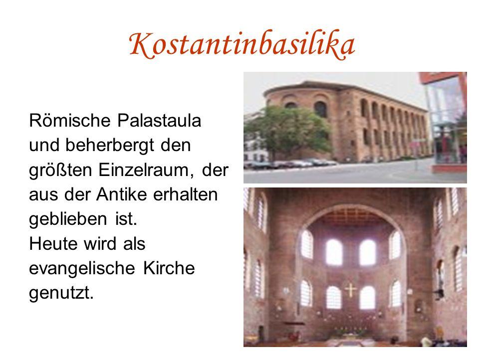 Kostantinbasilika Römische Palastaula und beherbergt den größten Einzelraum, der aus der Antike erhalten geblieben ist.