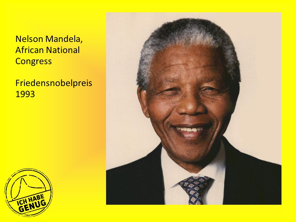 Nelson Mandela, African National Congress Friedensnobelpreis 1993