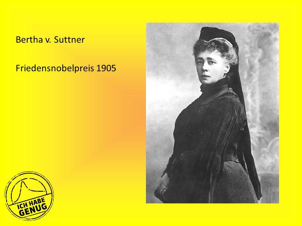 Bertha v. Suttner Friedensnobelpreis 1905