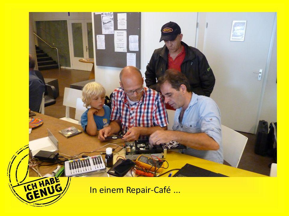 In einem Repair-Café...