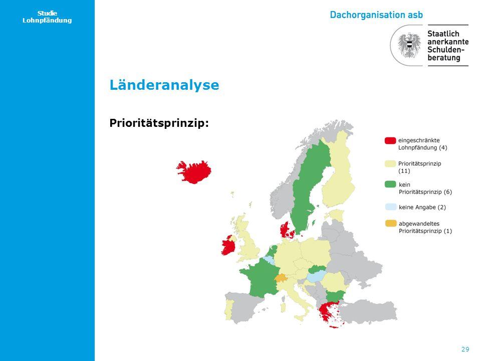 29 Studie Lohnpfändung Länderanalyse Prioritätsprinzip: