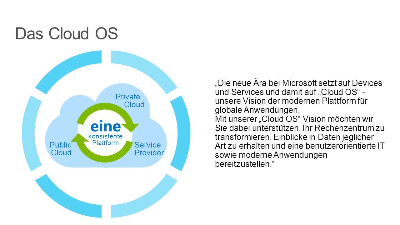 """""""Die neue Ära bei Microsoft setzt auf Devices und Services und damit auf """"Cloud OS - unsere Vision der modernen Plattform für globale Anwendungen."""