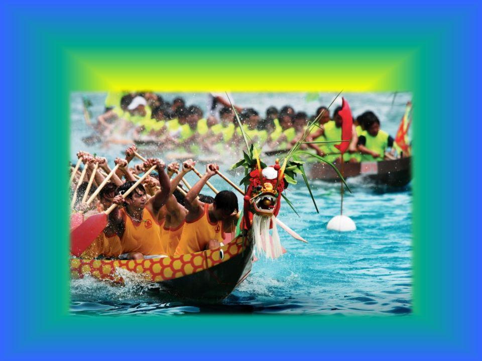 Das Drachenbootfest (chinesisch 端午節, Pinyin Duānwǔjié) fällt auf den 5.