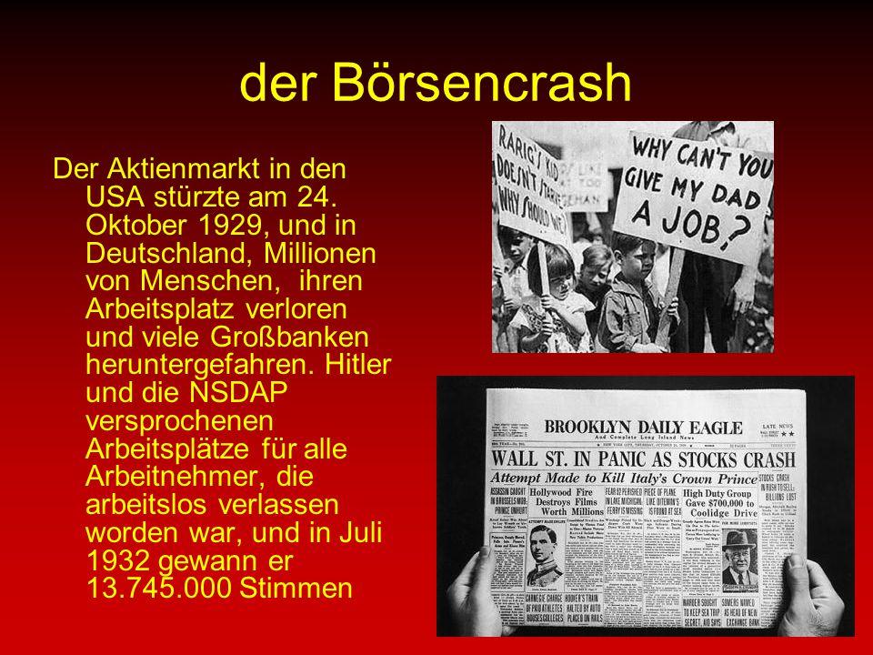 Aufstieg zur Macht Im Januar 1933 wurde Hitler zum Reichskanzler von Deutschland, nachdem sie einen Deal mit Franz von Papen.