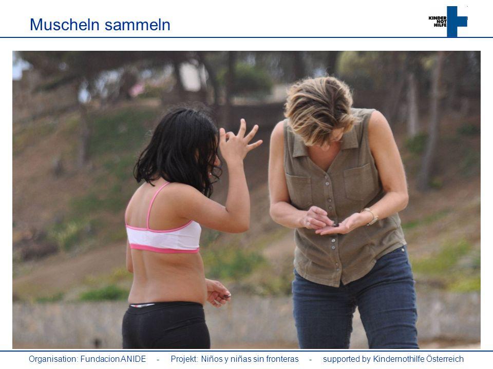 Organisation: Fundacion ANIDE - Projekt: Niños y niñas sin fronteras - supported by Kindernothilfe Österreich Muscheln sammeln
