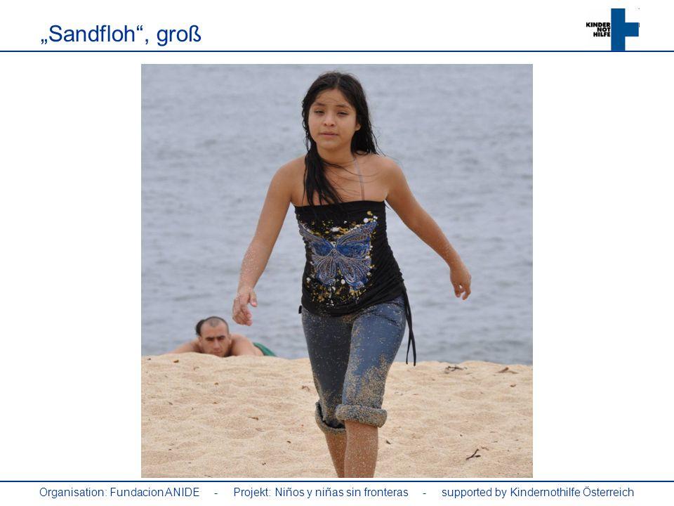 Organisation: Fundacion ANIDE - Projekt: Niños y niñas sin fronteras - supported by Kindernothilfe Österreich Sandfloh, groß