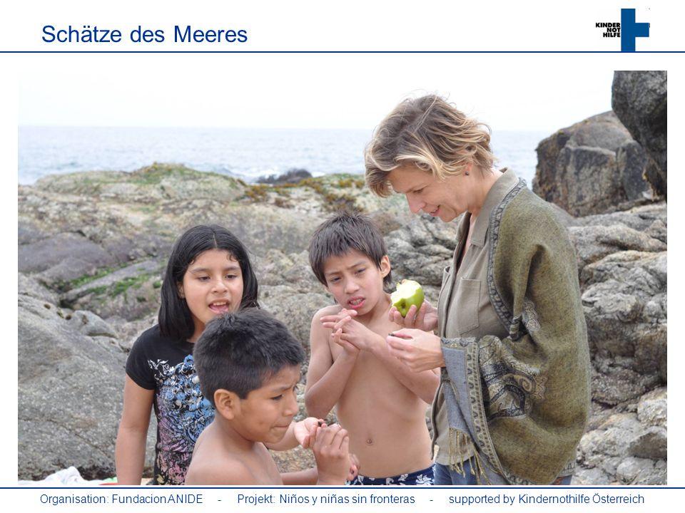 Organisation: Fundacion ANIDE - Projekt: Niños y niñas sin fronteras - supported by Kindernothilfe Österreich Schätze des Meeres