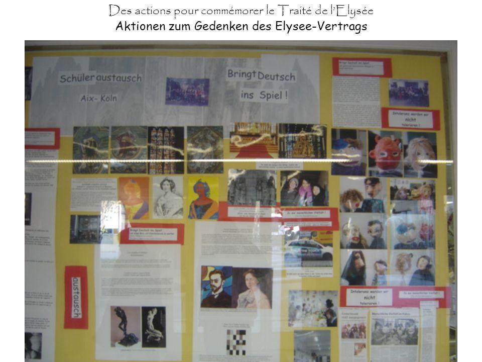 Des actions pour commémorer le Traité de lElysée Aktionen zum Gedenken des Elysee-Vertrags