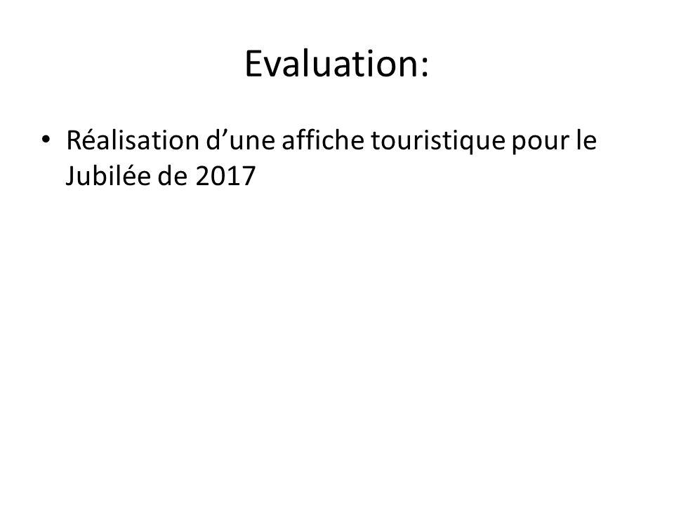 Evaluation: Réalisation dune affiche touristique pour le Jubilée de 2017