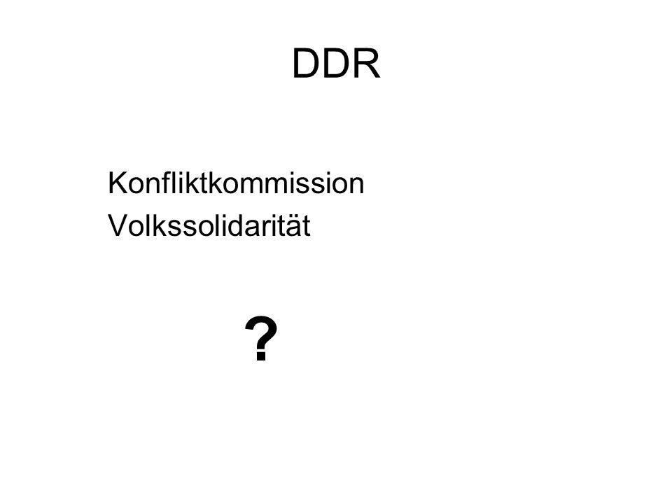 DDR Konfliktkommission Volkssolidarität ?