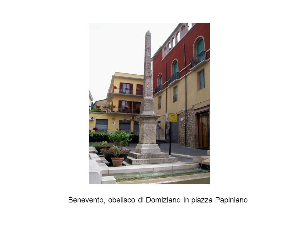 Benevento, obelisco di Domiziano in piazza Papiniano