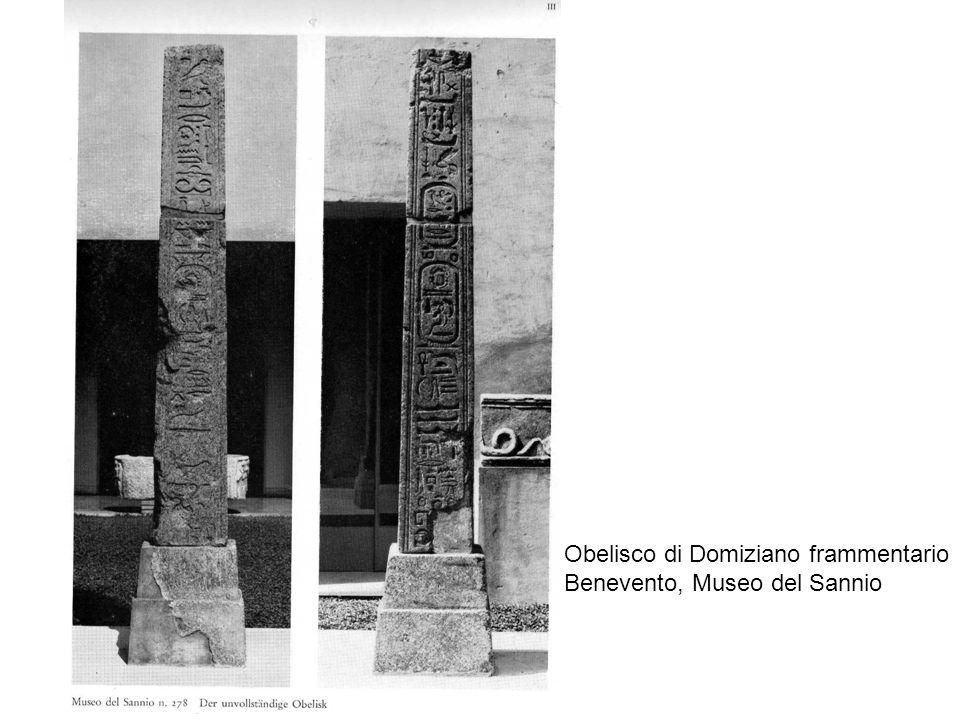 Obelisco di Domiziano frammentario Benevento, Museo del Sannio