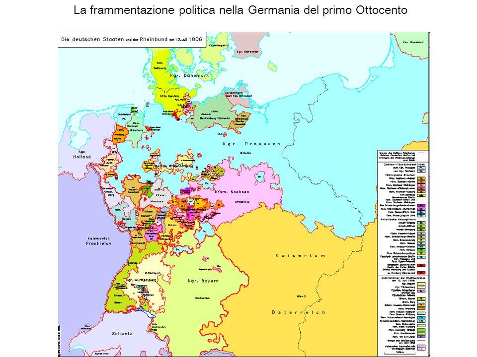 La frammentazione politica nella Germania del primo Ottocento